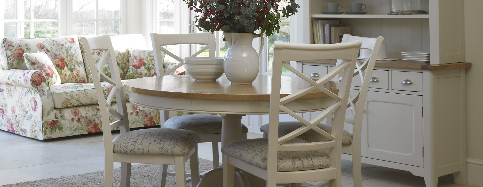 Dining furniture in uk homes decoration tips for Painted dining room furniture