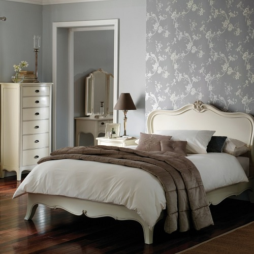 Louis french ivory painted bedroom furniture oak - Ivory painted living room furniture ...