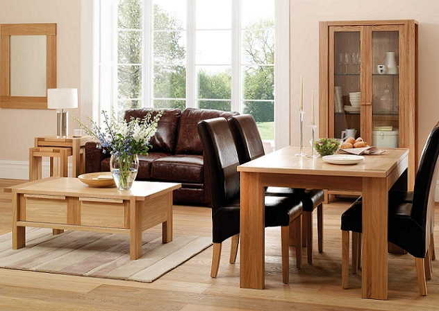 Toronto Contemporary Light Oak Dining Room Furniture | Oak