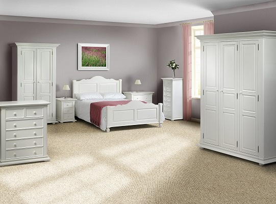 White Wood Bedroom Furniture On Yazmin White Bedroom Furniture Is Manufactured Using Solid Hard Wood
