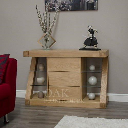 Z Shape Solid Oak