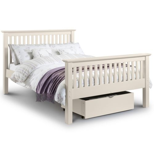 "Aspen White High Foot End 4' 6"" Double Bed"