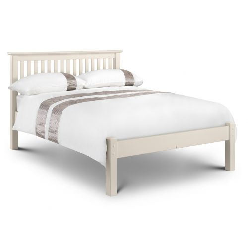 "Aspen White Low Foot End 4' 6"" Double Bed"