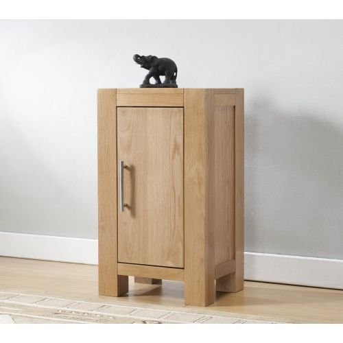 Aylesbury Contemporary Light Oak Small Cabinet with 1 Door