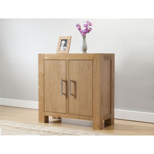 Aylesbury Contemporary Light Oak Small Cabinet with 2 Doors