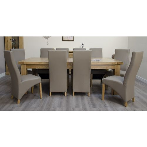 Coniston Rustic Solid Oak Extra Large Extending Dining Table