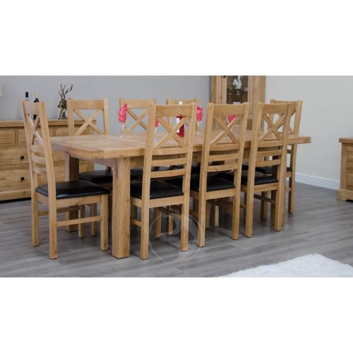 Coniston Rustic Solid Oak Large Extending Dining Table