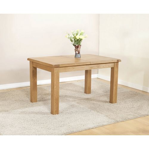 Cotswold Rustic Light Oak Large Extending Dining Table