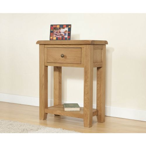 Cotswold Rustic Light Oak Small Console Table