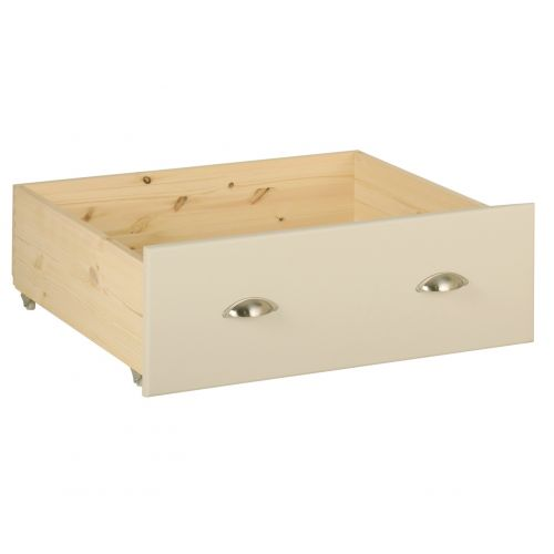 Country Oak and Painted Under Bed Storage Drawer