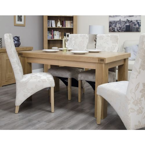 French Bordeaux Oak 5'x3' Fixed Top Dining Table