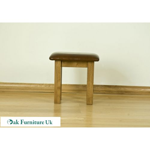 French Style Solid American White Oak Dressing Table Stool