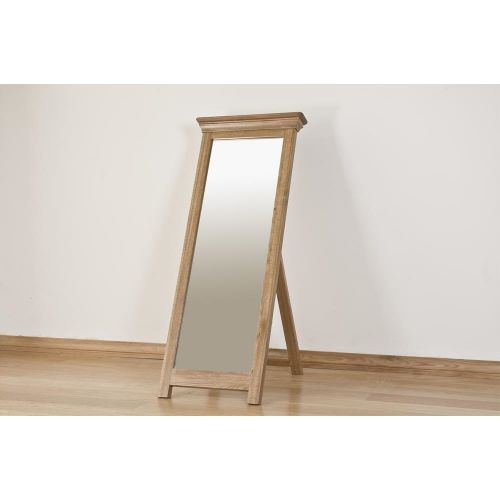 French Style Solid American White Oak Floor Standing Cheval Mirror