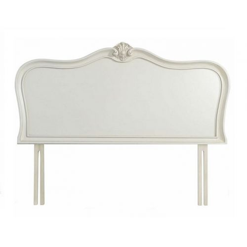 Louis French Ivory Painted 6' Super King Size Headboard