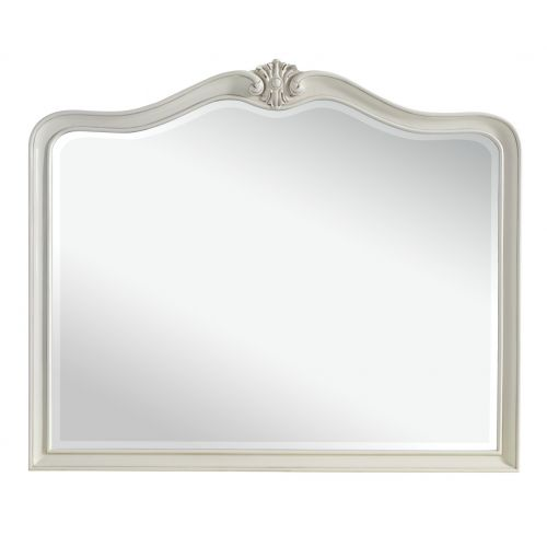Louis French Ivory Painted Wall Mirror