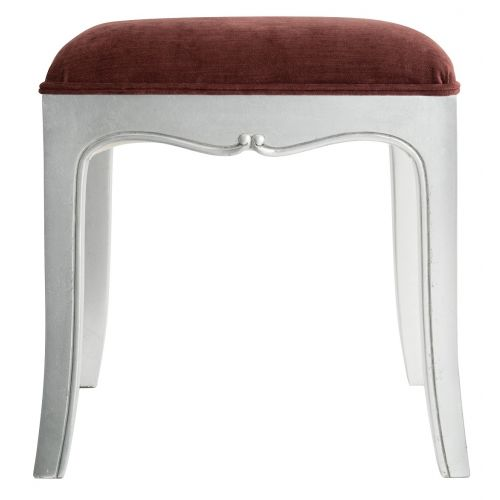 Louis French Silver Leaf Dressing Table Stool