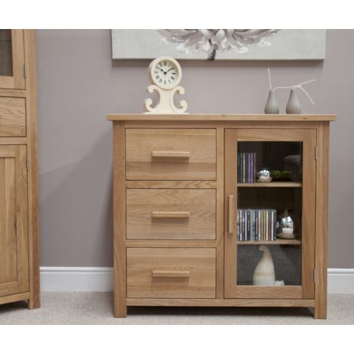 Opus Solid Oak Glazed Chest