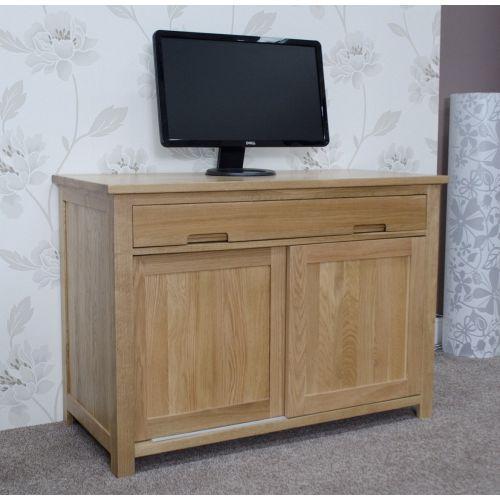 Opus Solid Oak Hideaway Computer Desk
