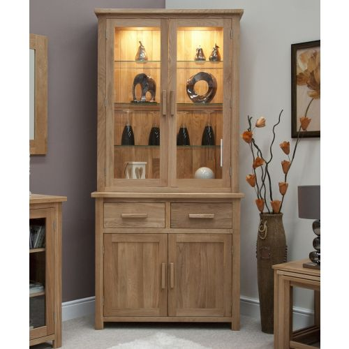 Opus Solid Oak Small Display Unit/ Welsh Dresser