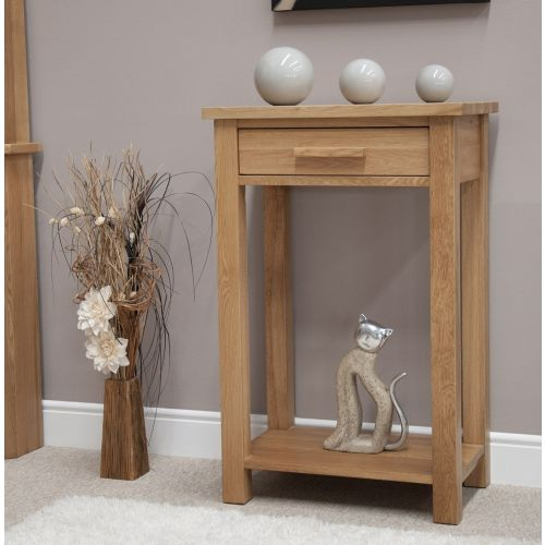 Opus Solid Oak Small Hall Console Table