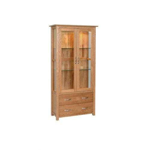Oxford Contemporary Oak Display Cabinet