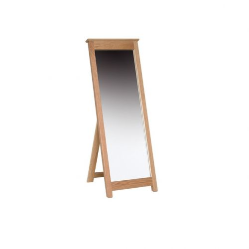 Oxford Contemporary Oak Floor Standing Mirror