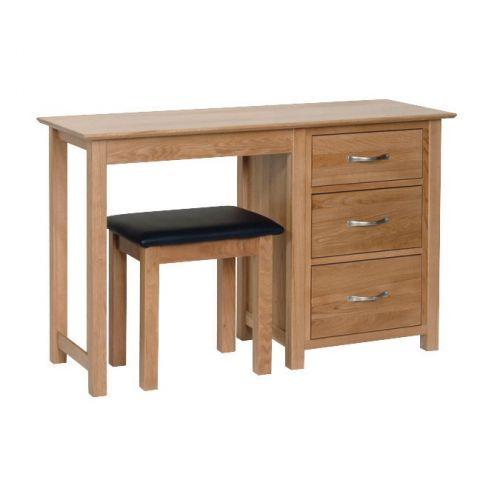 Oxford Contemporary Oak Single Pedestal Dressing Table