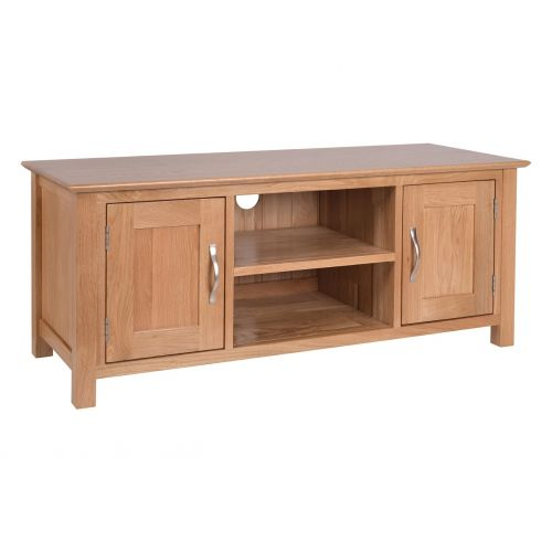 Oxford Contemporary Oak Large TV Cabinet with Doors