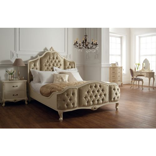 Régency French mid-18th Century Ivory White Bed Upholstered Panels