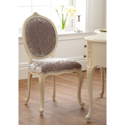 Régency French mid-18th Century Ivory White Dressing Table Chair