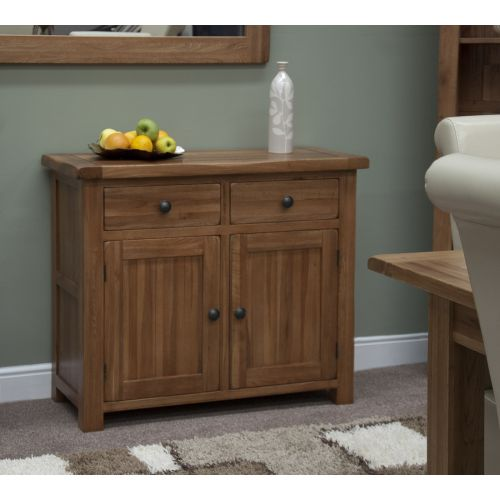 Rustic Solid Oak Small 2 Door Sideboard