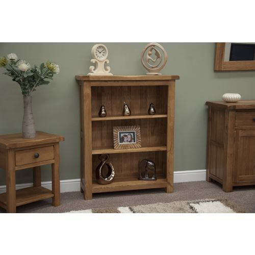 Rustic Solid Oak Small Bookcase