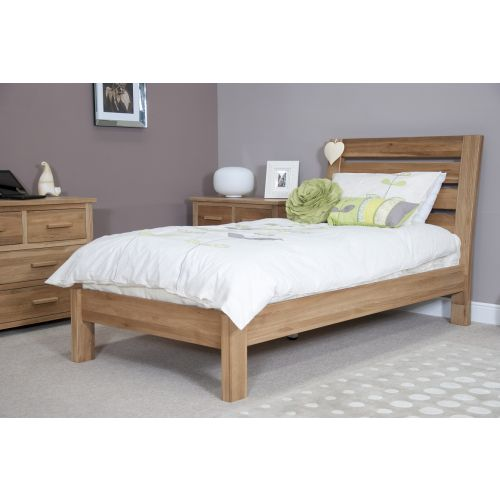 Solid Oak 3' Single Bed