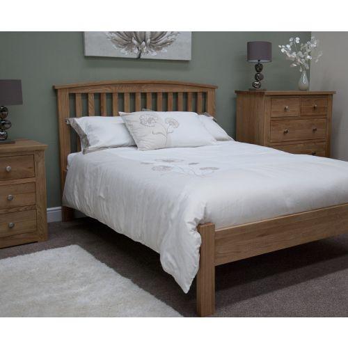 Torino Solid Oak 3' Single Bed
