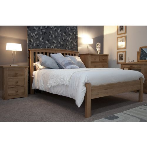 "Torino Solid Oak 4' 6"" Double Bed"
