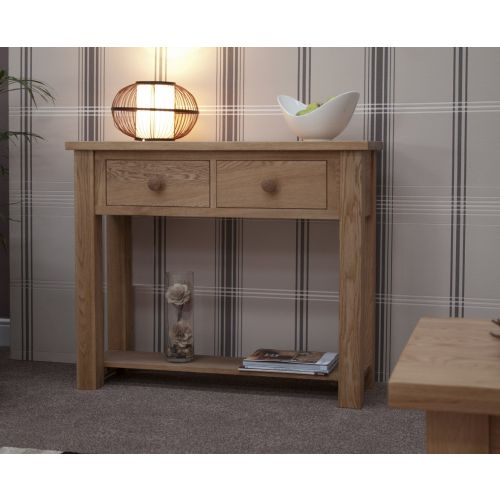 Torino Solid Oak Hall Console Table