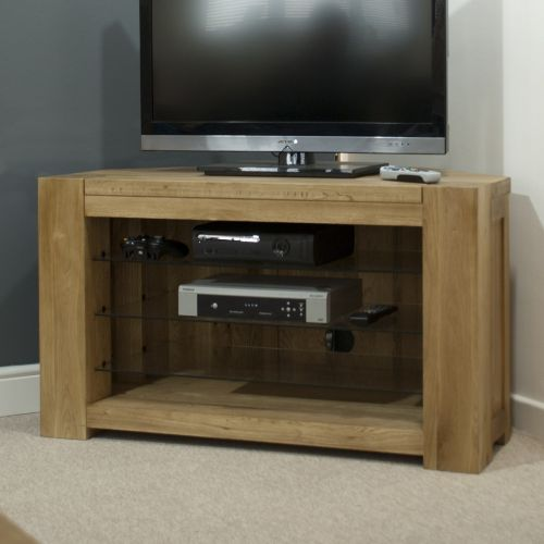 Trend Solid Oak Corner TV Unit