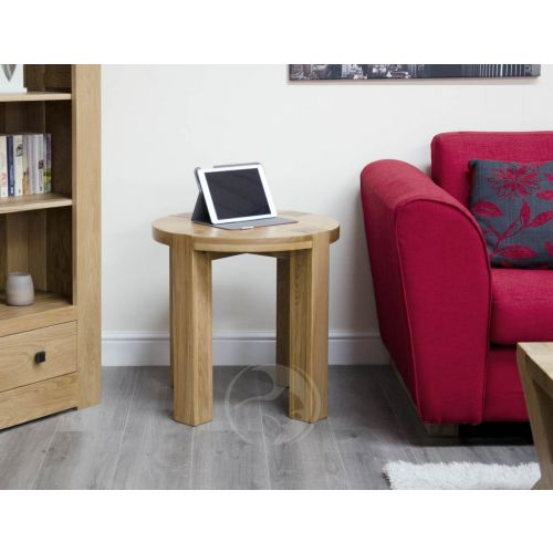 Trend Solid Oak Round Lamp Table | Trend Oak Furniture