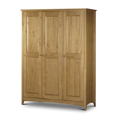 Trent Solid Pine 3 Door Triple Wardrobe