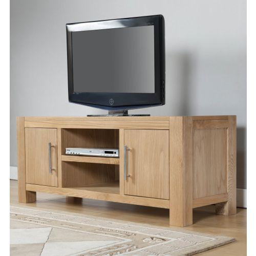 Aylesbury Contemporary Light Oak Large TV Unit