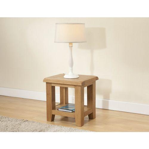 Cotswold Rustic Light Oak Lamp Table