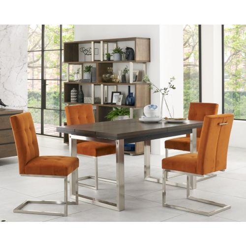 Tivoli Dark Oak Extending Dining Table - 4-6 Seater