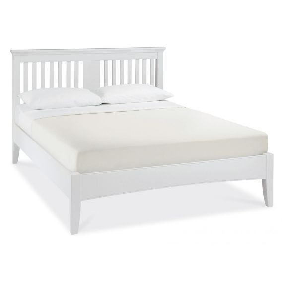 Hampstead White Slatted Double Bed