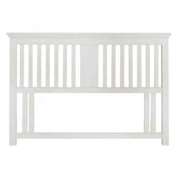 Hampstead White Slatted Double Headboard