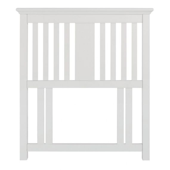 Hampstead White Slatted Single Headboard