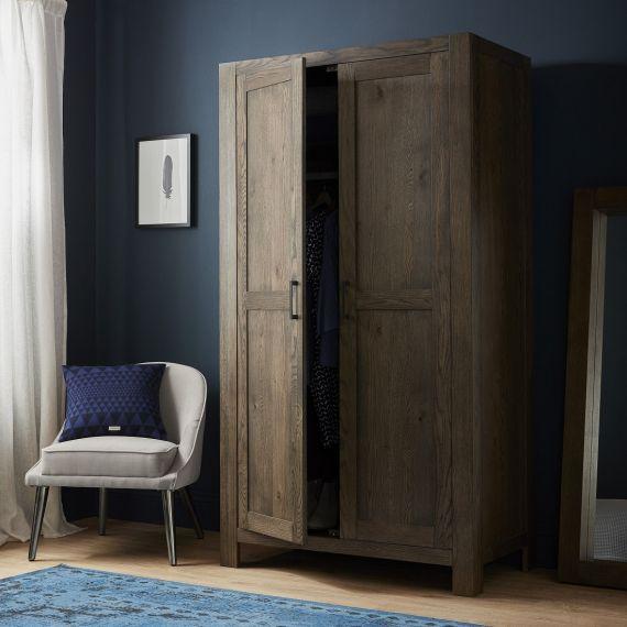 Turin Dark Oak Double Wardrobe