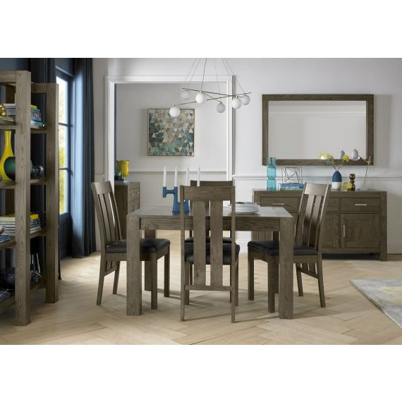 Turin Dark Oak Small Extending Dining Table