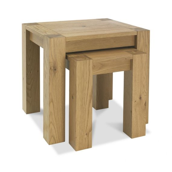 Turin Light Oak Nest of Tables