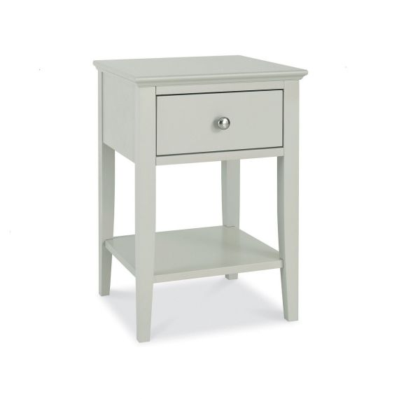 Ashby Cotton Painted 1 Drawer Bedside Table - Ashby Bedroom Furniture
