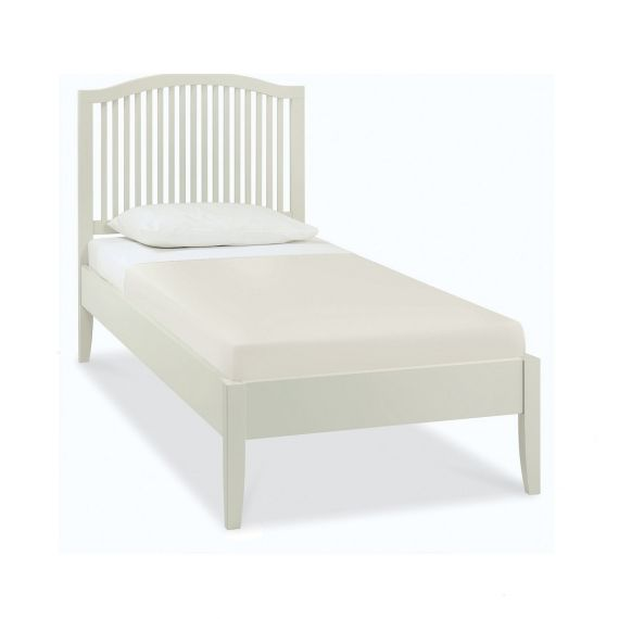 Ashby Cotton Painted Slatted Single Bed - Ashby Bedroom Furniture